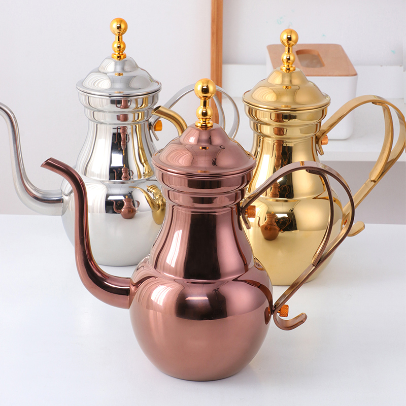 不锈钢金樽茶壶