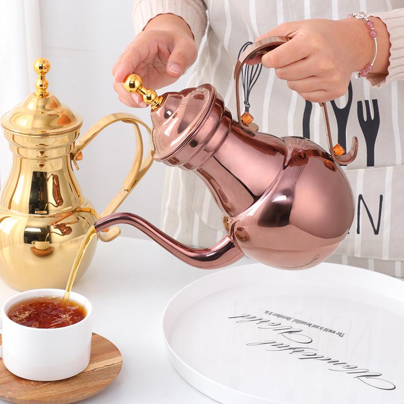 不锈钢复古式茶壶